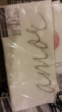 Amor Flour Sack Towel