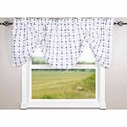 Anchors Away Gathered Valance
