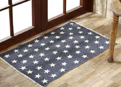 Antique Navy Star Rug (Multiple Size Options)