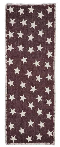 Antique Red Star Table Runner, 36 inch