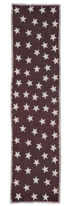 Antique Red Star Table Runner, 54 inch