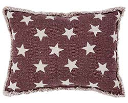 Antique Red Star Pillow
