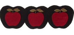 Apple Harvest Felt Table Runner - 24 inch
