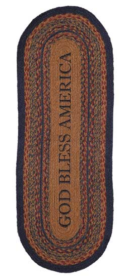 Arlington Jute Tablerunner, 48 inch - God Bless America