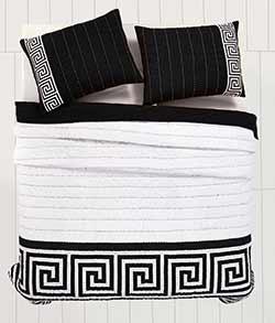 Athena Black Quilt Set - Queen