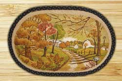 Autumn Landscape Braided Jute Rug