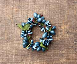 Blue on Blue 1.5 inch Berry Candle Ring