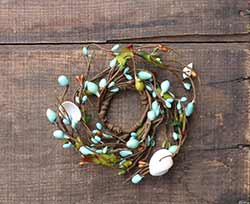 By the Sea 1.5 inch Berry Candle Ring (Long branch)