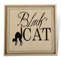 K&K Black Cat Plaque