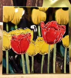 Tulips Art Tile - 8 x 8