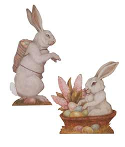 Spring Bunny Dummy Boards (Set of 2)