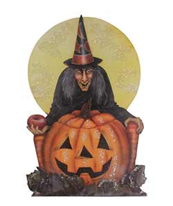 Midnight Witch with Pumpkin Dummy Board