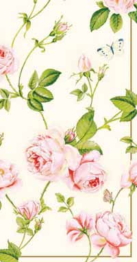 Rambling Rose Paper Guest Napkin
