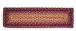 Vintage Star Burgundy Braided Stair Tread, Rectangular