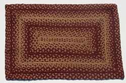 Vintage Star Burgundy Braided Rug, Rectangular (27 x 48 inch)