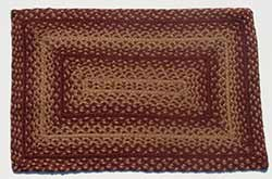 Vintage Star Burgundy Braided Rug, Rectangular (20 x 30 inch)