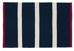 Royal Navy Dhurrie Rug (Multiple Size Options)
