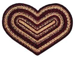 Radiance Oval Jute Heart Rug