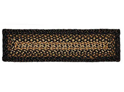 Black Forest Braided Stair Tread - Rectangle