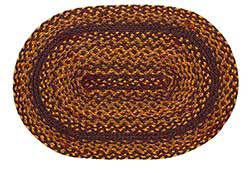 Olivia's Heartland (formerly IHF - India Home Fashions) Acorn Burgundy Braided Placemat