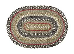 Kensington Braided Placemat (Gray, Green, Red)