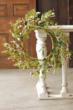 Blooming Cotton Ball Wreath