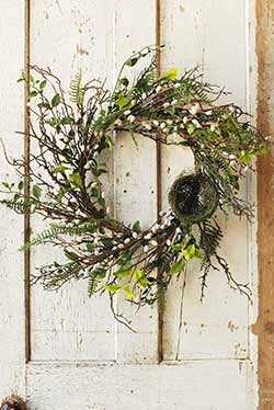 Natural Day Dew Floral Wreath