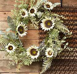 Sunflower & Succulent Wreath