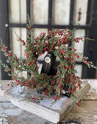 Crimson Tidings Cedar 4.5 inch Candle Ring