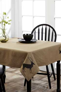 Barrington Burlap Table Topper (40 x 40 inch)