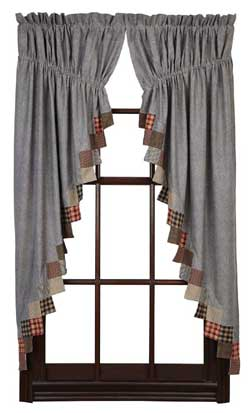 VHC Brands (Victorian Heart) Beacon Hill Prairie Curtain (63 inch)