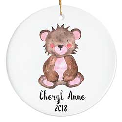 Teddy Bear Personalized Ornament