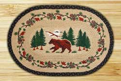 Bear Woods Braided Jute Rug