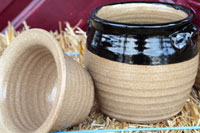 Hand-Thrown Dip Set - Black
