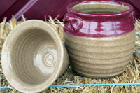 Hand-Thrown Dip Set - Red