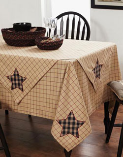 Bingham Star Tablecloth - 60 x 60