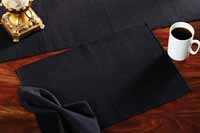 Black Solid Tablerunner (48 inch)