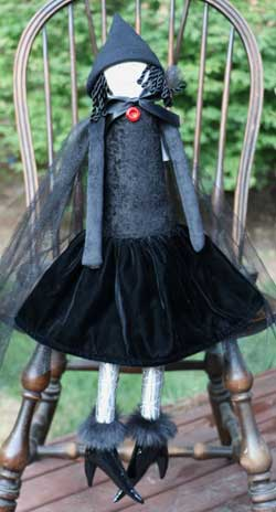 Black Chenille Extra Large Witch