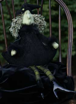 Black Chenille Roly Witch (Musical)