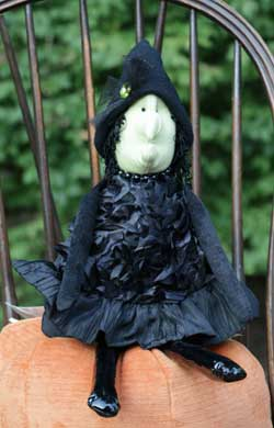 Black Ribbon Medium Witch