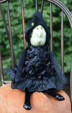 Woof & Poof Black Ribbon Medium Witch