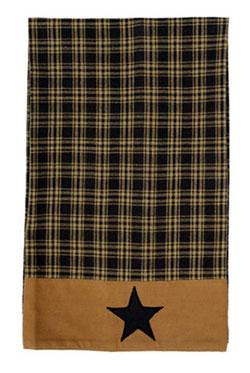 Black Applique Star Tea Towels (Set of 2)