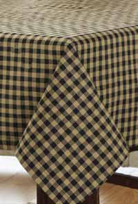 Black Check Tablecloth, 60 x 120