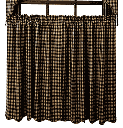 VHC Brands Black Check Tiers - 36 inch (Black and Tan)