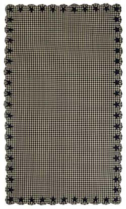Black Star Tablecloth - 60 x 102 inch (Black and Tan)
