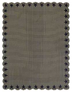 Black Star Tablecloth - 60 x 80 inch (Black and Tan)