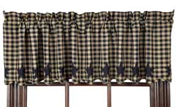 VHC Brands Black Star Valance (Black and Tan)