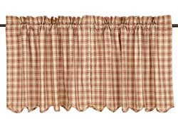 Bradley Brown Plaid Cafe Curtains - 24 inch Tiers
