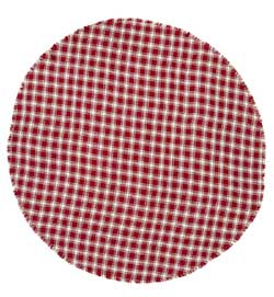 Breckenridge Burlap Plaid Tablecloth, 70 inch (Round)
