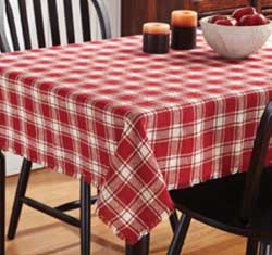 VHC Brands (Victorian Heart) Breckenridge Burlap Plaid Tablecloth, 60 x 102 inch